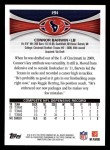 2012 Topps #191  Connor Barwin  Back Thumbnail