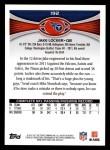 2012 Topps #192  Jake Locker  Back Thumbnail