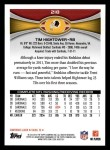 2012 Topps #218  Tim Hightower  Back Thumbnail
