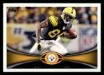 2012 Topps #223  Antonio Brown  Front Thumbnail