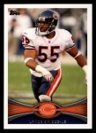 2012 Topps #227  Lance Briggs  Front Thumbnail