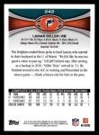 2012 Topps #242  Lamar Miller  Back Thumbnail