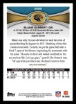 2012 Topps #246  Blaine Gabbert  Back Thumbnail