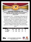 2012 Topps #247  Leonard Hankerson  Back Thumbnail