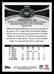 2012 Topps #256  Jordan White  Back Thumbnail
