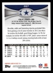 2012 Topps #267  Felix Jones  Back Thumbnail