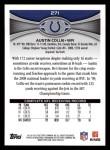2012 Topps #271  Austin Collie  Back Thumbnail