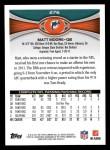 2012 Topps #276  Matt Moore  Back Thumbnail
