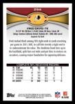 2012 Topps #294  Fred Davis  Back Thumbnail