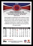 2012 Topps #298  Ahmad Bradshaw  Back Thumbnail