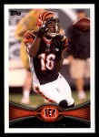 2012 Topps #320  A.J. Green  Front Thumbnail