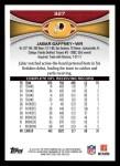 2012 Topps #327  Jabar Gaffney  Back Thumbnail