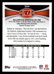 2012 Topps #334  BenJarvus Green-Ellis  Back Thumbnail