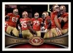 2012 Topps #343   -  Vernon Davis San Francisco 49ers Front Thumbnail