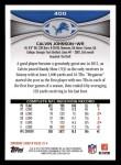 2012 Topps #400  Calvin Johnson  Back Thumbnail