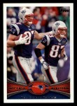 2012 Topps #409   -  Rob Gronkowski / Wes Welker New England Patriots Front Thumbnail