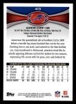 2012 Topps #413  Aaron Corp  Back Thumbnail