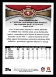 2012 Topps #414  Cam Johnson  Back Thumbnail