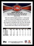 2012 Topps #419  Derek Wolfe  Back Thumbnail