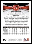 2012 Topps #429  Dan Herron  Back Thumbnail