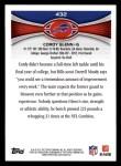 2012 Topps #432  Cordy Glenn  Back Thumbnail
