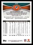 2012 Topps #435  David Garrard  Back Thumbnail