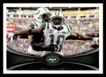 2012 Topps #439   -  Santonio Holmes New York Jets Front Thumbnail