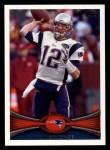 2012 Topps #440  Tom Brady  Front Thumbnail