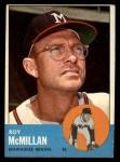 1963 Topps #156  Roy McMillan  Front Thumbnail