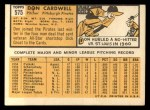 1963 Topps #575  Don Cardwell  Back Thumbnail