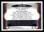 2013 Topps #36   Chicago Bears Team Back Thumbnail