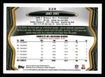2013 Topps #228  James Jones  Back Thumbnail