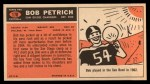 1965 Topps #170  Bob Petrich  Back Thumbnail