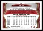 2013 Topps #260  Frank Gore  Back Thumbnail