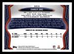 2013 Topps #303  Chandler Jones  Back Thumbnail