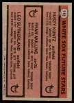 1981 Topps #112   -  Leo Sutherland  /  Fran Mullins  /  Rusty Kuntz White Sox Back Thumbnail