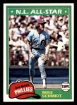 1981 Topps #540  Mike Schmidt  Front Thumbnail
