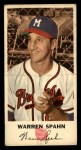 1954 Johnston Cookies #21  Warren Spahn  Front Thumbnail