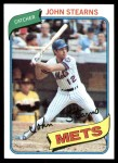 1980 Topps #76  John Stearns  Front Thumbnail