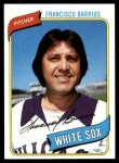 1980 Topps #107  Francisco Barrios  Front Thumbnail