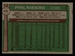 1976 Topps #435  Phil Niekro  Back Thumbnail