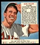 1952 Red Man #8 AL Bob Feller  Front Thumbnail