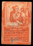 1957 Topps Isolation Booth #73   World's Most Common Name Back Thumbnail