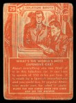 1957 Topps Isolation Booth #29   World's Most Expensive Car Back Thumbnail