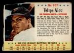 1963 Post Cereal #107  Felipe Alou  Front Thumbnail
