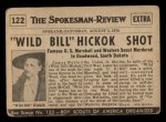 1954 Topps Scoop #122 xCOA  Wild Bill Hickok Shot Back Thumbnail