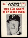 1961 Nu-Card Scoops #406   -   Vern Law  Winner of Cy Young Award Front Thumbnail