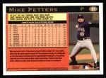 1997 Topps #61 B Mike Fetters  Back Thumbnail