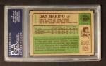 1984 Topps #123  Dan Marino  Back Thumbnail