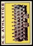 1964 Topps #151 ERR  Athletics Team Front Thumbnail
